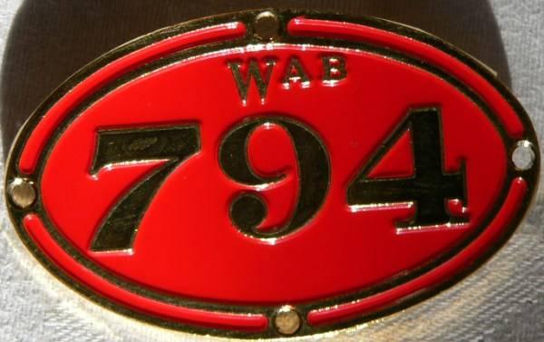 Badge of Wab794 Number Plate ...